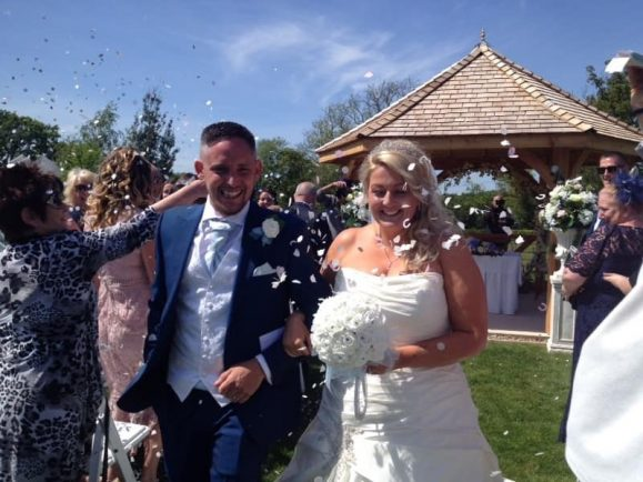 Jamie and Marie married in spectacular fashion, thanks to the Bromsgrove community