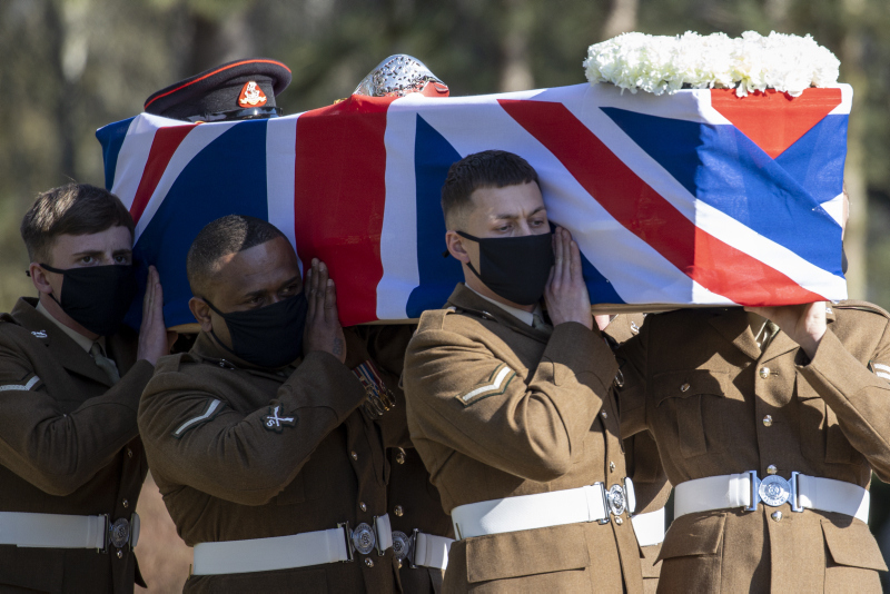 Final goodbyes paid to Captain Sir Tom Moore at moving funeral service